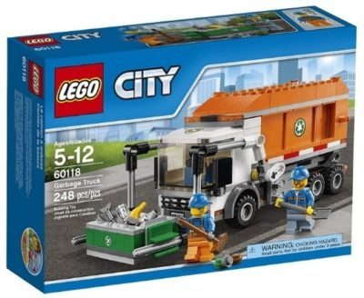 This is an image of boy's lego city garbage truck