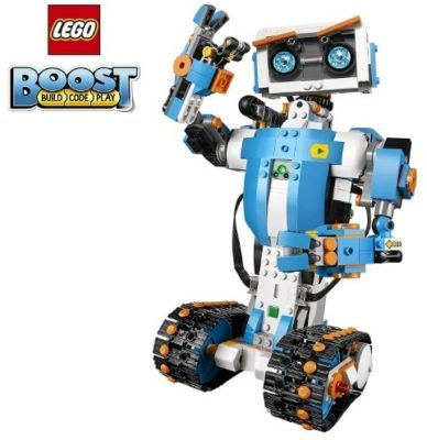 This is an image of boy's LEGO ROBOT building set in blue and white colors
