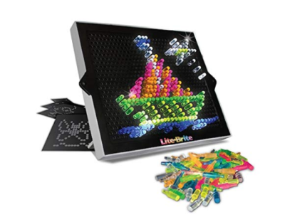 This is an image of a classic lite brite kid's toy.