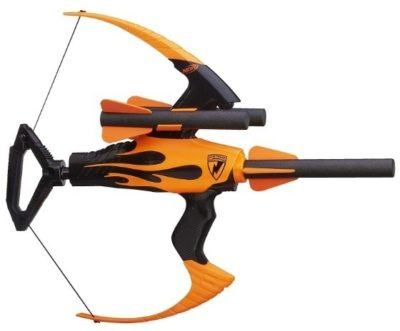 This is an image of boy's nerf Strike bow in orange and black colors