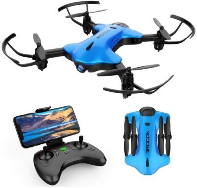 This is an image of kid's ninja drone in blue color
