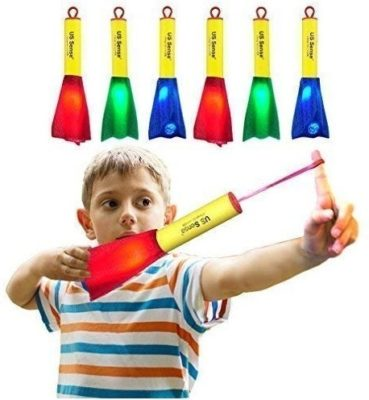 This is an image of boys pack anf glow foam rocket in multi colors