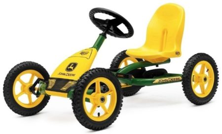 This is an image of kid's john deere in yellow and green colors