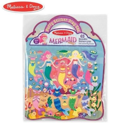 This is an image of girl's sticker play set