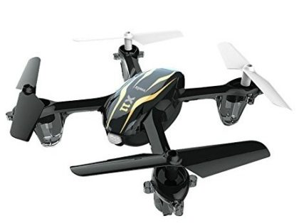 This is an image of kid's quadcopter drone in black color