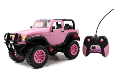 This is an image of a pink RC toy vehicle for little girls.