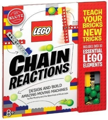 This is an image of boy's LEGO chain reaction building kit