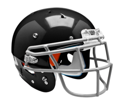 This is an image of a black football helmet.