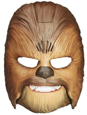 This is an image of boy's Star wars mask Chewbacca with roaring sounds in brown color