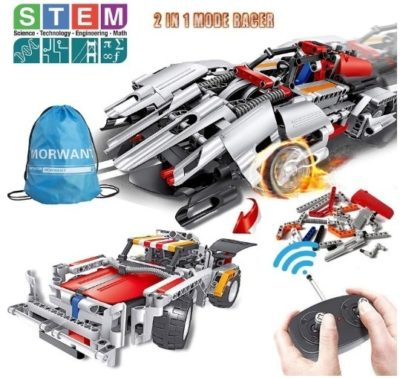 This is an image of boys STEM building car toy with remote control