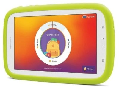This is an image of boys samsung galaxy kids tablet in white color