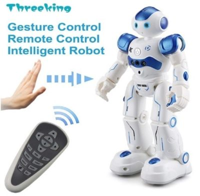 This is an image of boy's smart robot toys with remote control in white colors