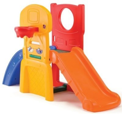 This is an image of toddler's sports climber with slide in colorful colors