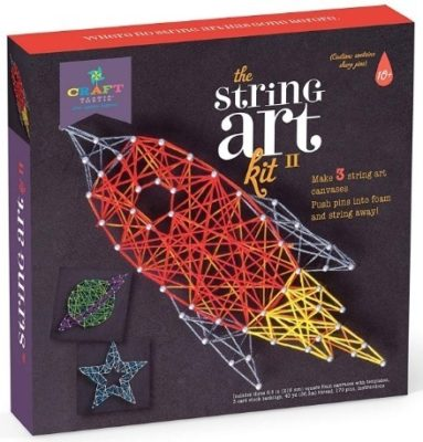 This is an image of boy's string art kit