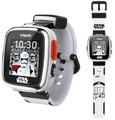 This is an image of boy's smatwatch with Star wars design in white color by VTech
