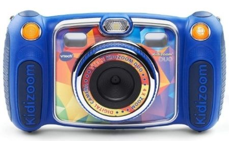 This is an image of boys selfie camera by Vtech in blue color