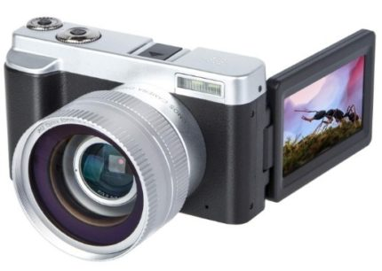 This is an image of teen's Digital Video Camera in black and silver colors
