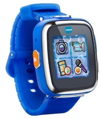 This is an image of boys smart watch in blue color by Vtech