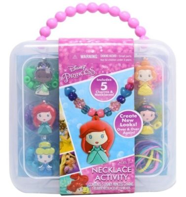 This is an image of girl's craft nicklace by disney in colorful colors