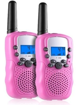 This is an image of girl's talkie walkies in pink color