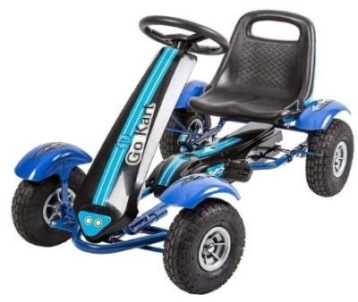 This is an image of boy's go kart pedal in blue color