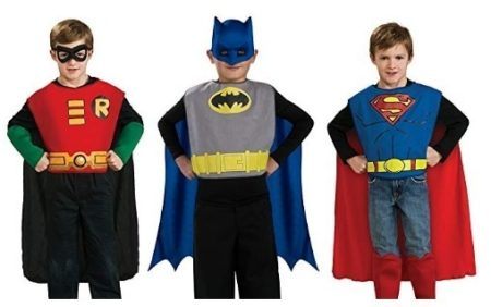This is an image of boy's DC costume kit with 3 pairs
