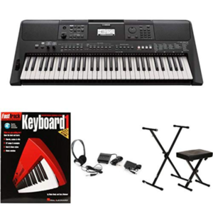 this is an image of a yamaha keyboard bundle with accessories