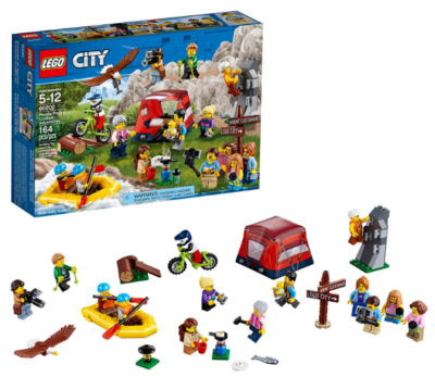 this is an image of boy's lego city people pack building kit in multi-colored colors