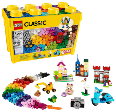 this is an image of boy's lego lassic large creative in yellow color