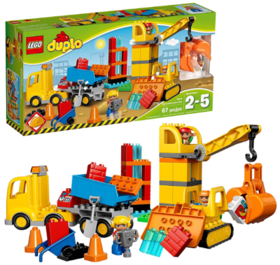 this is an image of boy's lego duplo big construction in colorful colors