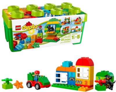 this is an image of boy's lego duplo creactive in green color