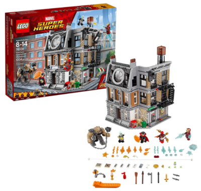 this is an image of boy's lego marvel building sit in multi-colored colors