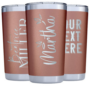 this is an image of personalized tumblers