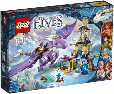 This is an image of LEGO Elves 41178 The Dragon Sanctuary Building Kit (585 Piece)