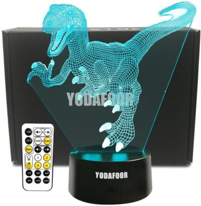 This is an image of YODAFOOR Dinosaur Night Light Lamp Dinosaur Toy Gifts for Boys