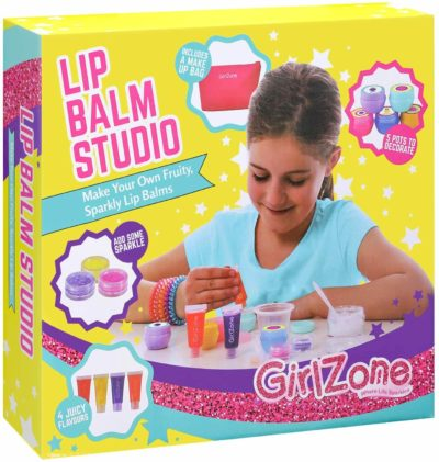 This is an image of GirlZone: Lip Gloss Kit Make Your Own Lip Balm Fun Makeup Set for Girls