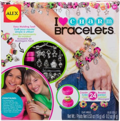 This is an image of Alex DIY Wear I Heart Charm Bracelets Kids Art and Craft Activity