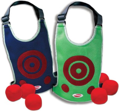 This is an image of Diggin DodgeTag Game Set. Foam Dodge-Ball 6-Pack & Target Tag Vests