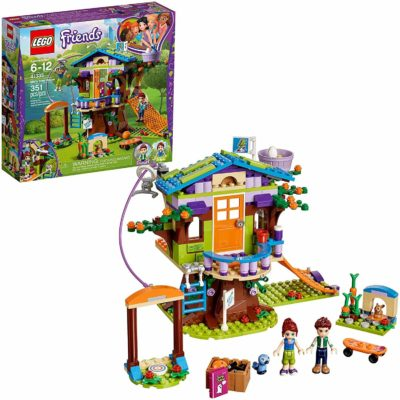 this is an image of LEGO Friends Mia's Tree House 41335 Creative Building Toy Set for Kids,