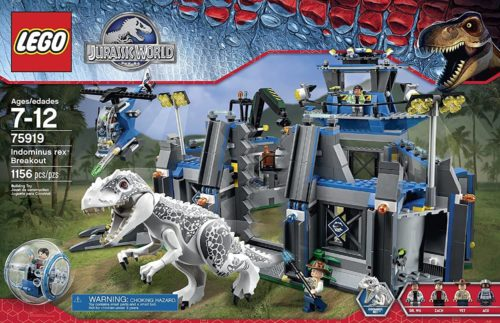 This is an image of Lego Jurassic World Indominus Rex Breakout 75919 Building Kit