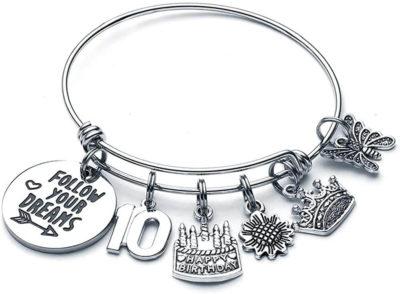 Image of 10th Birthday Charm Bracelet