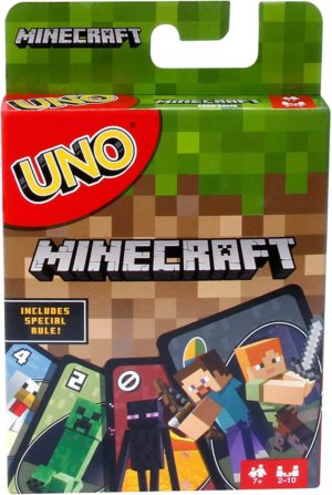 This is an image of UNO Minecraft Card Game