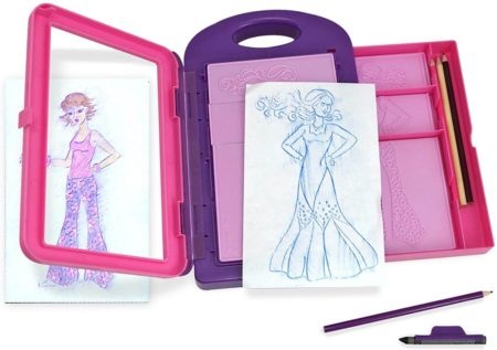 This is an image of Melissa & Doug Fashion Design Activity Kit