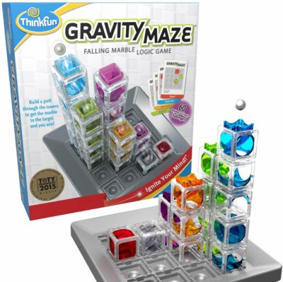 This is an image of ThinkFun Gravity Maze Marble Run Brain Game and STEM Toy for Boys and Girls