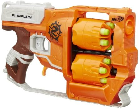 This is an image of Nerf Zombie Strike FlipFury Blaster