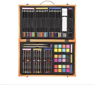 This is an image of Darice 80-Piece Deluxe Art Set – Art Supplies for Drawing, Painting