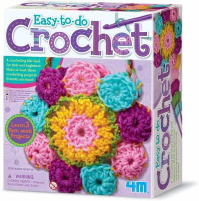 This is an image of 4M 3625 Easy-To-Do Crochet Kit - DIY Arts & Crafts
