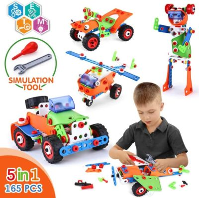 Image of VATOS STEM Building Toys 165 Piece Learning Toy Kit Educational