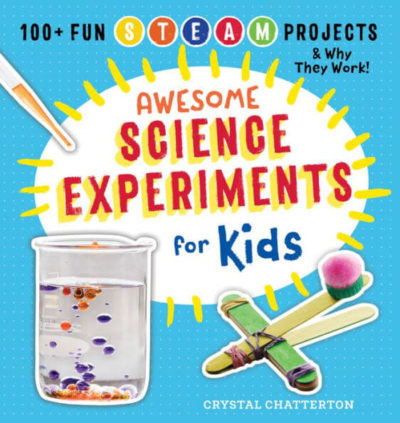 This is an image of Awesome Science Experiments for Kids: 100+ Fun STEM