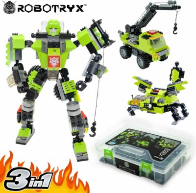 This is an image of JITTERYGIT Robot STEM Toy | 3 in 1 Fun Creative Set